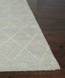 Casablanca Wool Rug, Sterling Blue