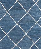 Gem Hand-Tufted Wool Rug, Denim Blue