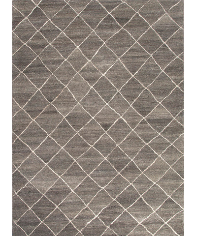 Gem Hand-Tufted Wool Rug, Charcoal