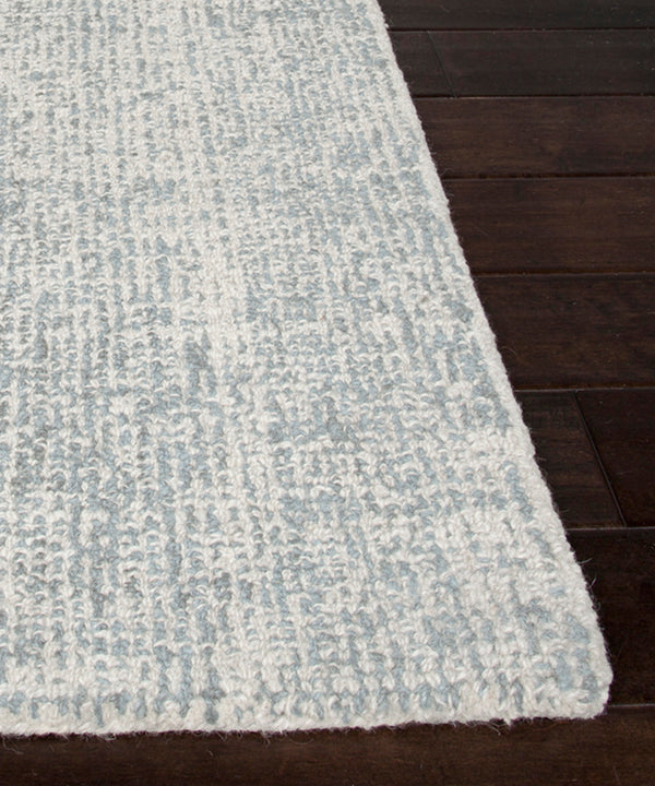Oland Heathered Wool Rug, Pearl Blue