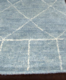 Tangier Hand-Knotted Wool Rug, Slate Blue