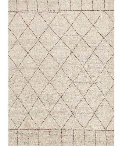 Tangier Hand-Knotted Wool Rug, Ivory