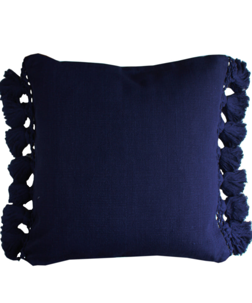 Kate Spade Tassel Pillow, Navy