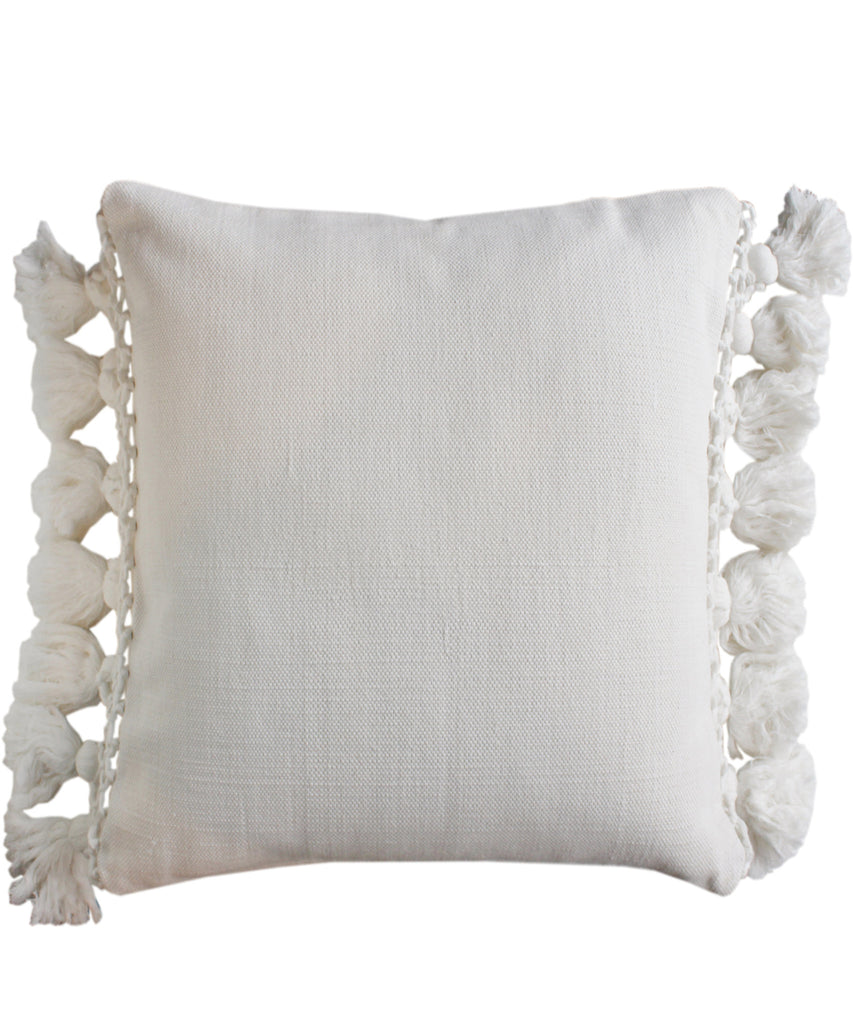 Kate Spade Tassel Pillow, Canvas White