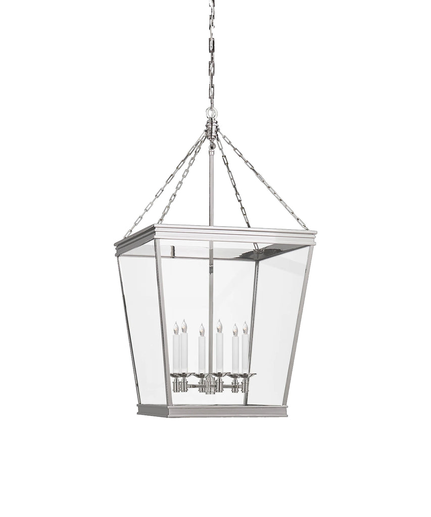 Small Launceton Hanging Lantern, Polished Nickel