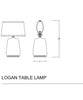 Logan Table Lamp, White