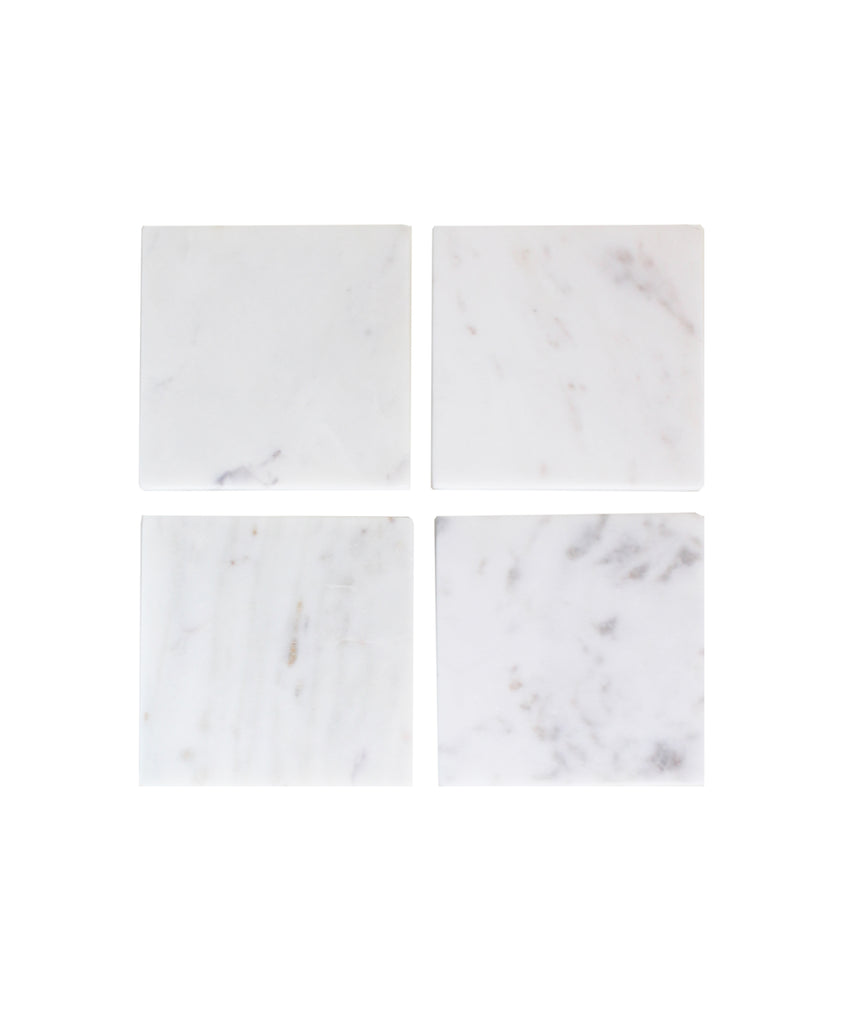 Set of 4 Marble Square Coasters