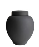 Matte Black Ceramic Jars