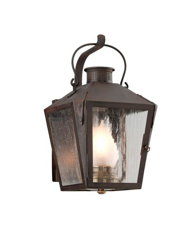 Merion Square Outdoor Lantern in Rust, Small