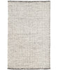 Network Woven Wool Rug, Black