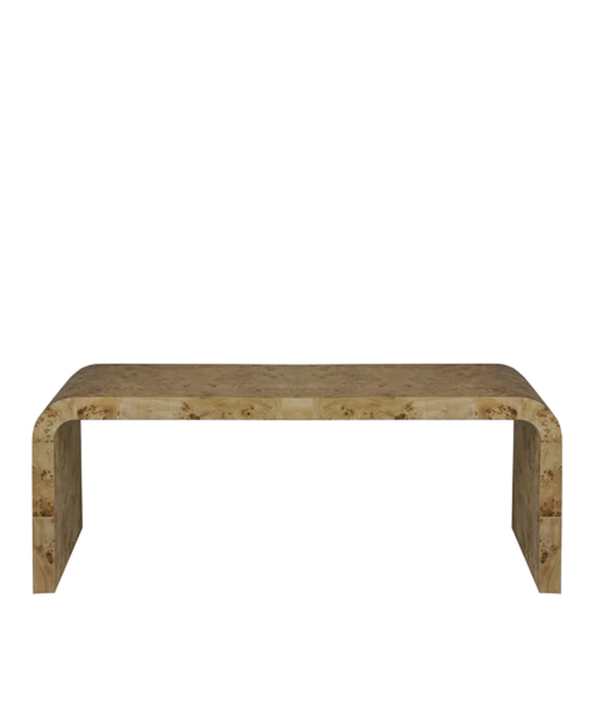 Nichols Coffee Table, Burl Wood