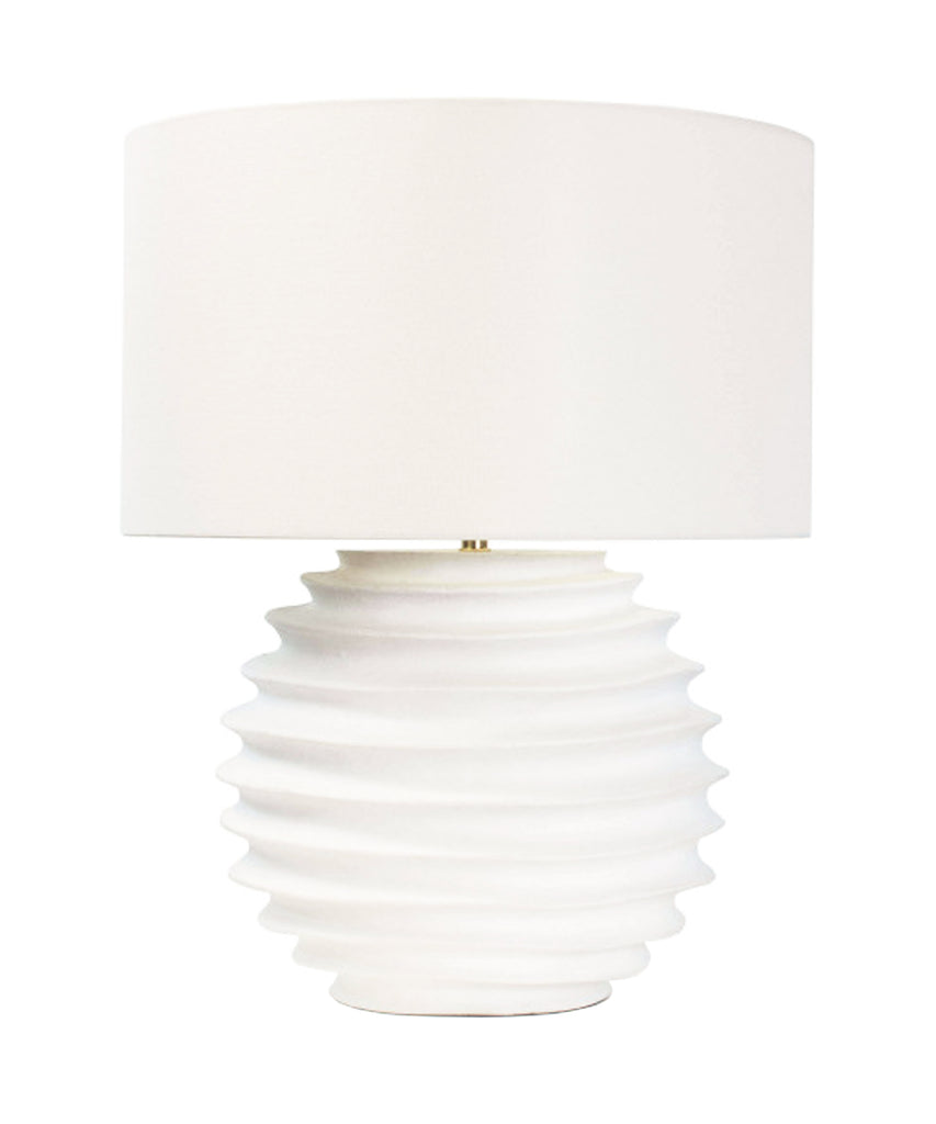 Nora Table Lamp, White