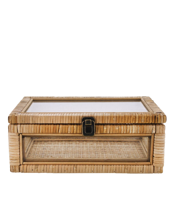 Palmetto Rattan & Glass Box