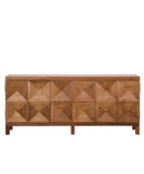 Clayton Quadrant Console, Dark Walnut