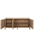 Clayton Quadrant Console, Washed Walnut