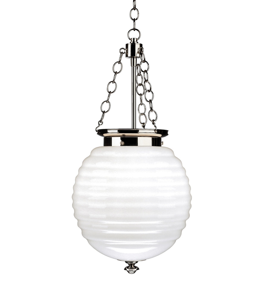 Beehive glass pendant polished nickel with milk glass high street beehive glass pendant polished nickel with milk glass aloadofball Choice Image