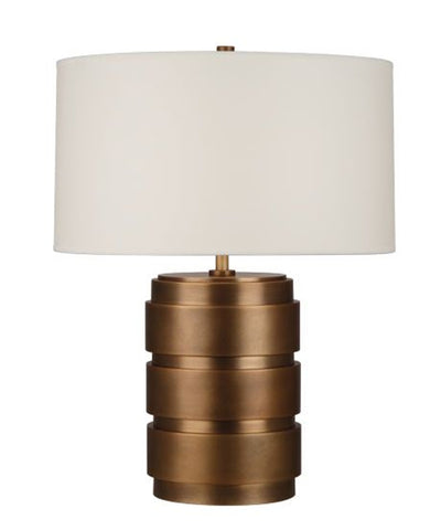 Cylindricus Table Lamp, Aged Brass