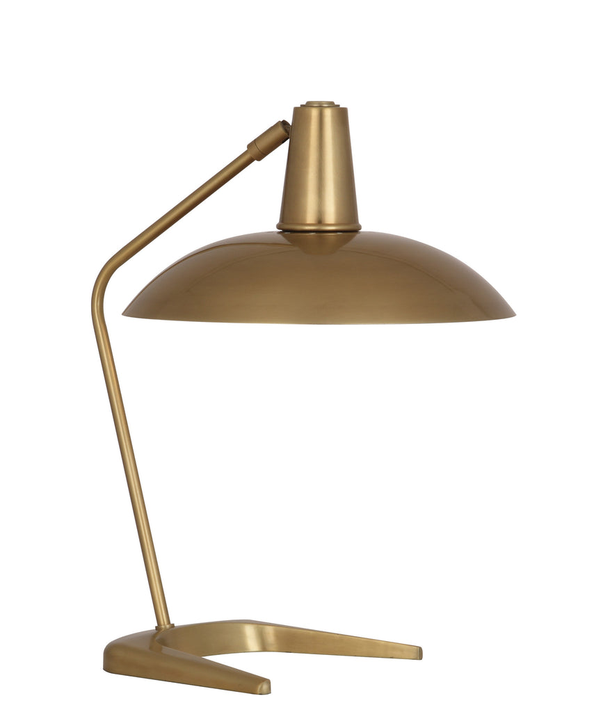 Enterprise Table Lamp, Antique Brass