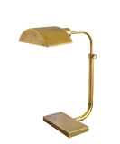 Koleman Adjustable Task Lamp, Antique Brass