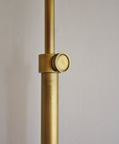 Koleman Adjustable Floor Lamp, Antique Brass