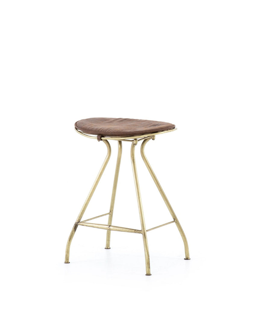 Ripley Counter Stool, Brass