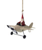 Aviator Santa Ornaments