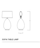 Sophia Table Lamp, White