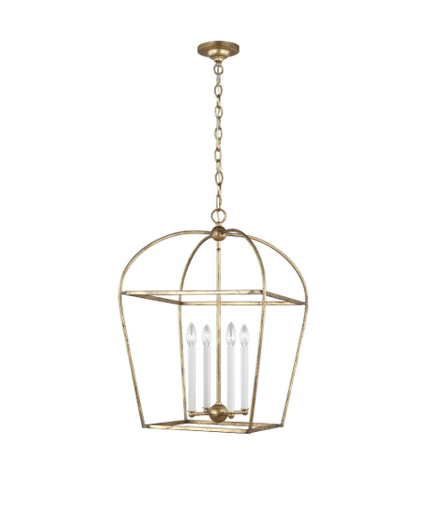 Stonington Medium Lantern, Antique Gild