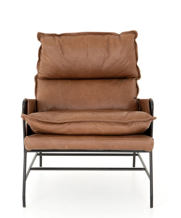 Tal Leather Chair, Brown
