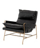 Tal Leather Chair, Black