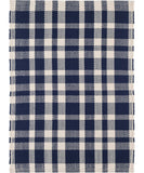 Tattersall Navy Plaid Indoor/Outdoor Rug
