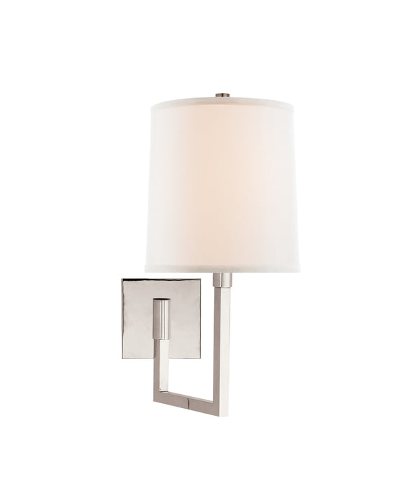 Aspect Small Articulating Sconce, Polished Nickel