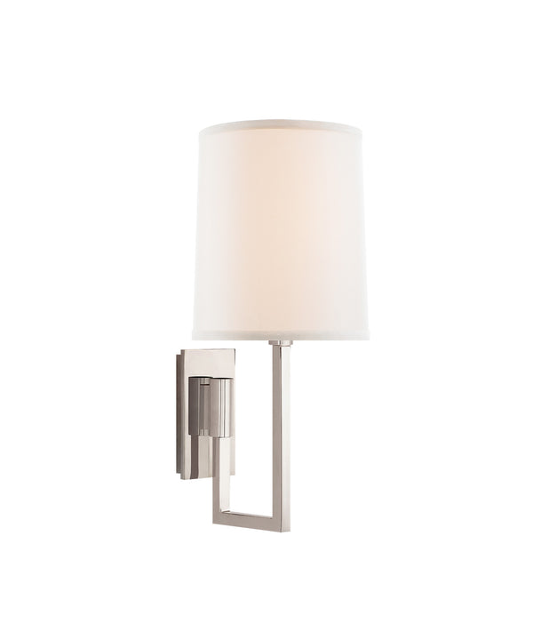 Aspect Library Sconce, Polished Nickel