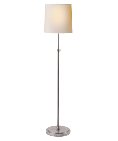 Bryant Adjustable Floor Lamp, Antique Silver