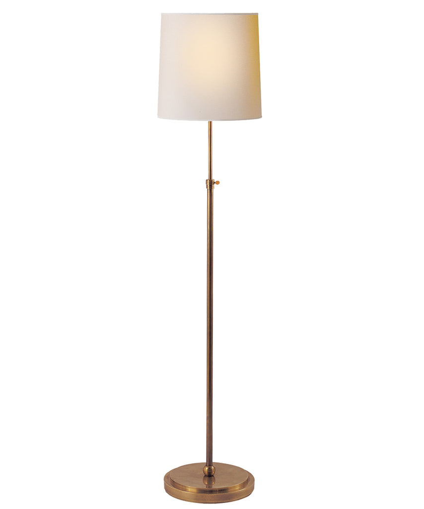 Bryant Adjustable Floor Lamp, Antique Brass