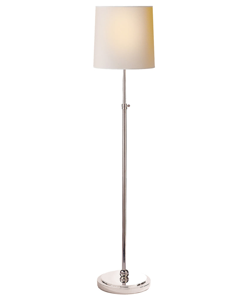 Bryant Adjustable Floor Lamp, Polished Nickel