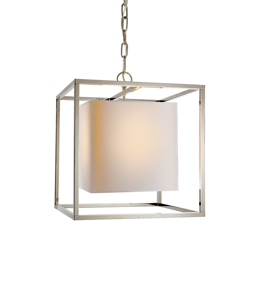 Caged Small Lantern, Polished Nickel