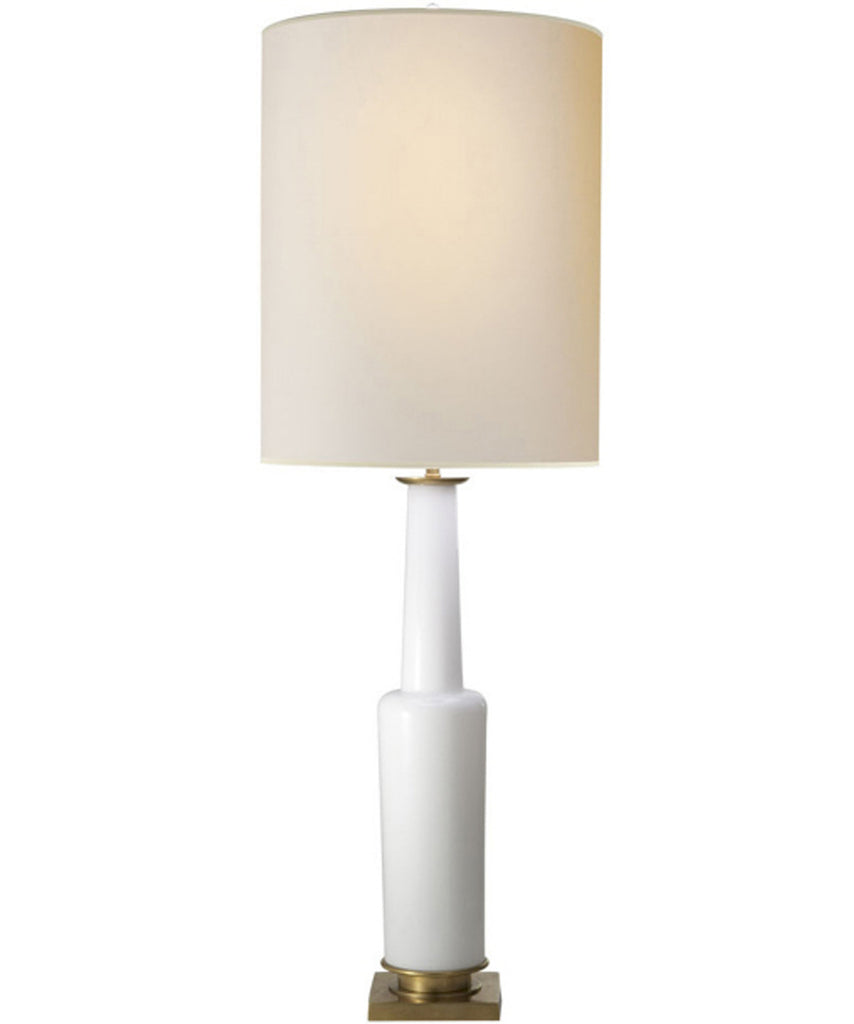 Tall Fiona Table Lamp, White Glass