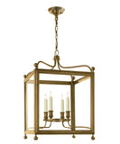 Medium Greggory Hanging Lantern, Antique Brass