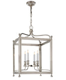Medium Greggory Hanging Lantern, Polished Nickel
