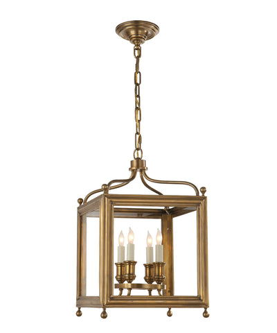 Small Greggory Hanging Lantern, Antique Brass
