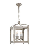 Small Greggory Hanging Lantern, Polished Nickel