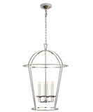 Large Round Darlana Lantern, Polished Nickel