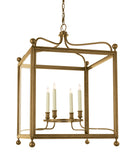 Large Greggory Hanging Lantern, Antique Brass