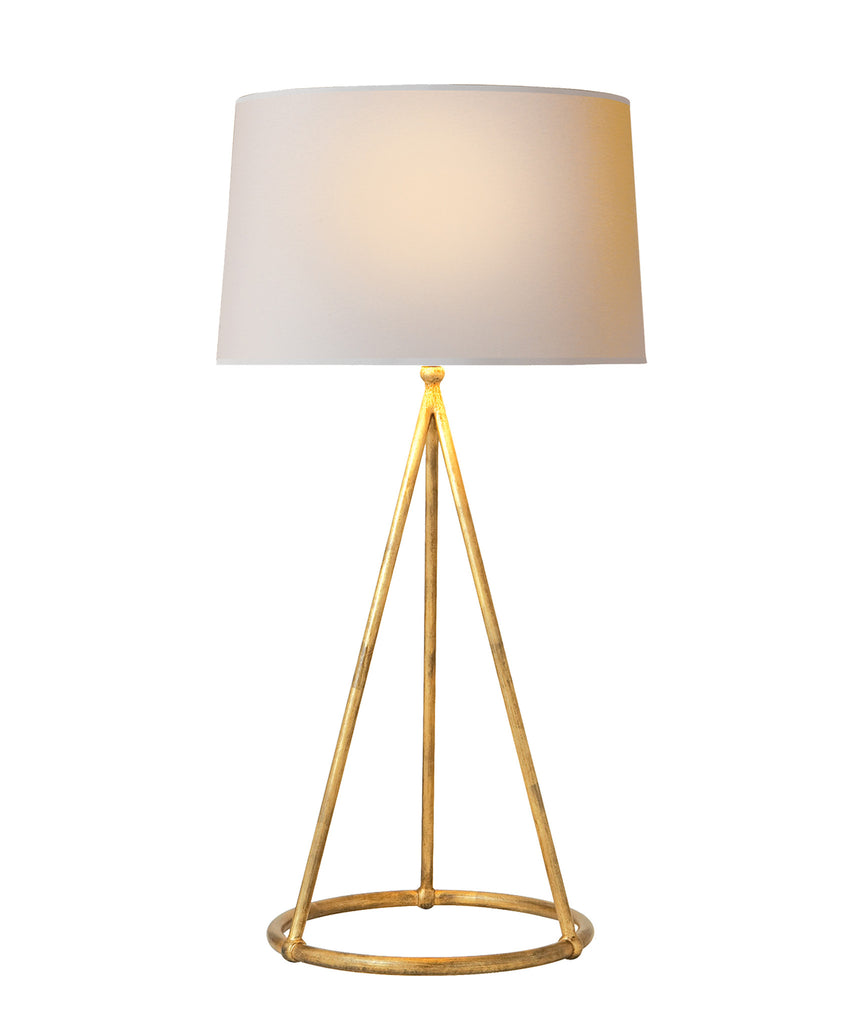 Nina Tapered Table Lamp, Gilded Gold