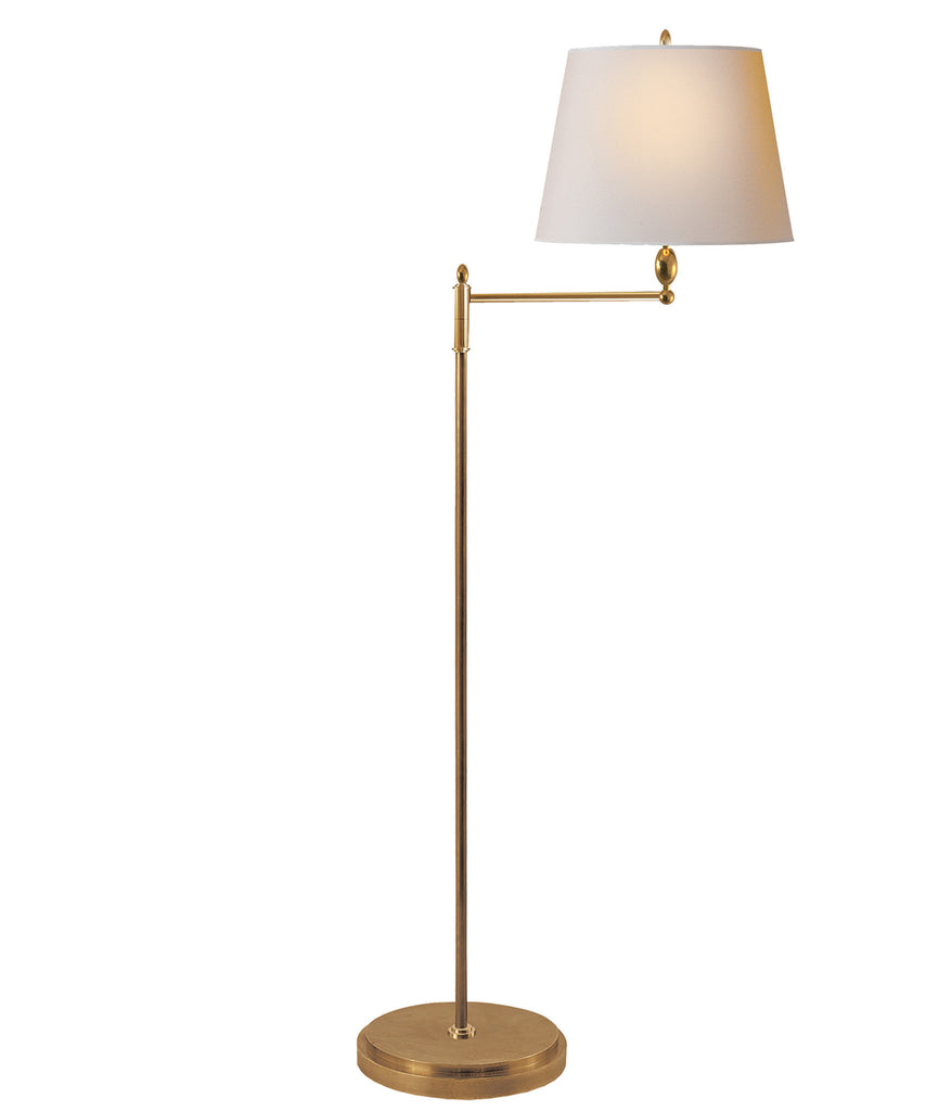 Paulo Floor Lamp, Antique Brass