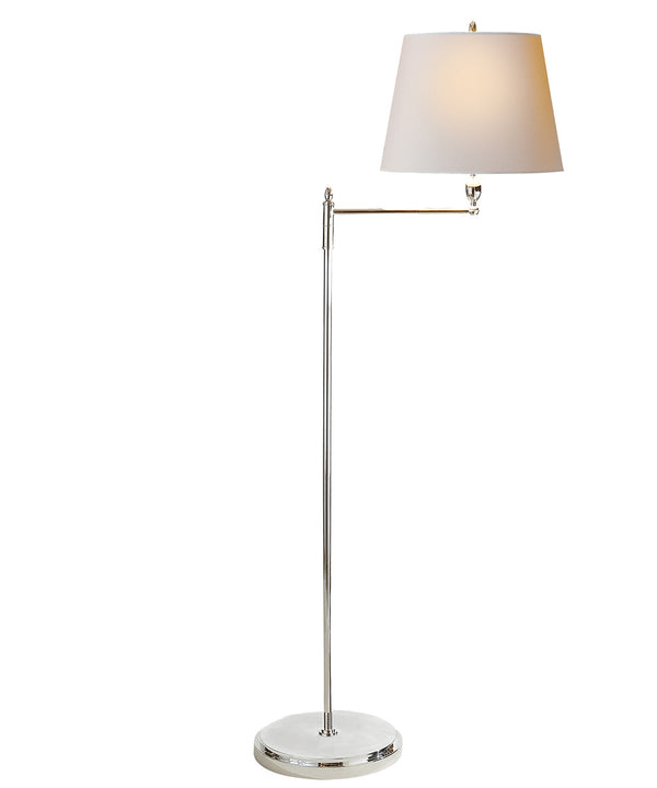 Paulo Floor Lamp, Polished Nickel