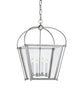 Small Plantation Lantern, Polished Nickel