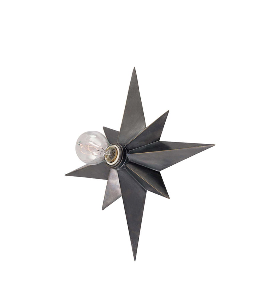 Star Flush Mount Wall Sconce, Bronze