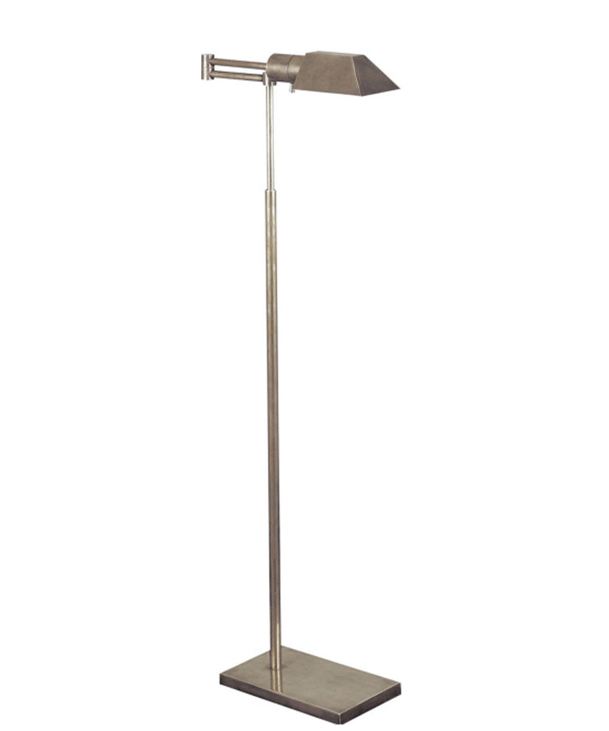 Studio Swing Arm Floor Lamp, Antique Nickel